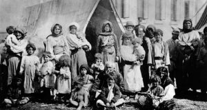 Gypsies in Bucharest circa 1930, where they lived in tents pitched in the middle of the street. Photograph: General Photographic Agency/Getty Images