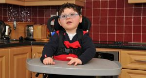 Darragh Dooley (4) has cerebral palsy and epilepsy. He also  has learning difficulties. His parents,  both teachers, applied for a Medical card shortly after he was born but they were refused. They eventually were granted a medical card.