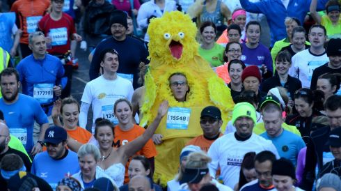 Richard Dornan dressed as a chicken. Photograph: Cyril Byrne/The Irish Times