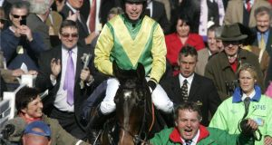 Sizing Europe, one of nine entries for the JNwine.com Champion Chase at Down Royal  this weekend.