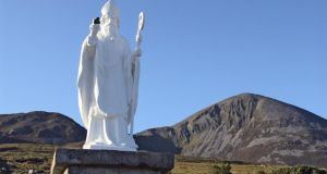 A statue of St Patrick at the base of Croagh Patrick. Rev Marcus Losack's book challenges our traditional understanding of where the saint came from and the truth about who he was.