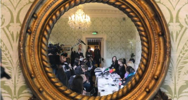 A Justice for Magdalenes press conference in Dublin last February: the group accuses the McAleese report of