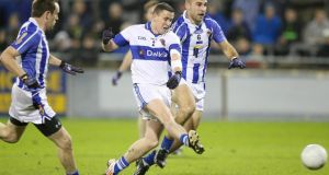 Kevin Bonnie of St Vincent's  scores his side's third goal against Ballyboden St Enda's. Photograph: Dan Sheridan/Inpho