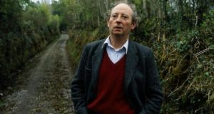 John McGahern,  near his home in Leitrim, in 1990. After his mother's death when he was 10, McGahern and his siblings moved into the Cootehill barracks to live with their father, Frank, wh was a sergeant there for many yeares. Photogaph: Frank Miller
