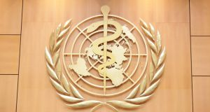 Logo of the World Health Organisation. Photograph: United States Mission Geneva/Flickr