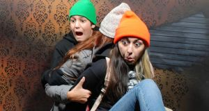 Visitors at Nightmares Fear Factory in Canada