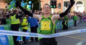 Sean Hehir, winner of  the Airtricity Dublin Marathon. Photograph: Eric Luke