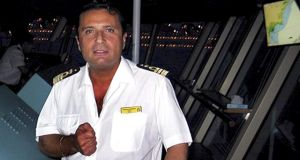 An undated file photo of Capt Francesco Schettino, who  stands accused of multiple manslaughter following the sinking of the Costa Concordia in January 2012. Photograph: Reuters
