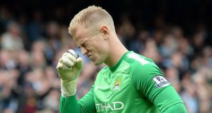 Goalkeeper Joe Hart is expected to sit out as Manchester City travel to Newcastle in the Capital One Cup tonight. Photograph: Martin Rickett/PA Wire