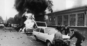 Indiscriminate atrocity:  Nassau Street during the Dublin bombing of 1974
