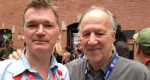 Paul Duane and Werner Herzog at Telluride Film Festival