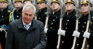 Video: Czech President accused of being drunk at