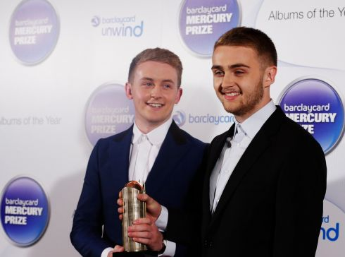 Howard and Guy Lawrence of the British band Disclosure. Photograph: Olivia Harris/Reuters