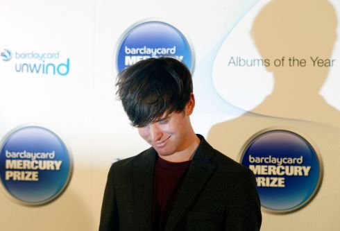 James Blake, winner of the 2013 Mercury Music Prize, pictured after the ceremony in north London. Photograph: Olivia Harris/Reuters