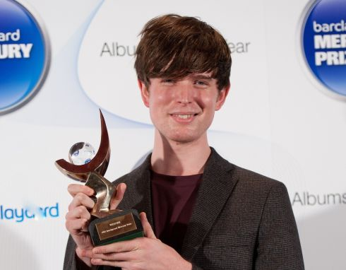 James Blake poses with the winner's trophy at the Roundhouse. Photograph: Zak Hussein/Getty Images