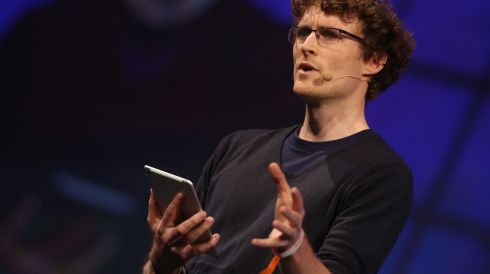 Paddy Cosgrave speaking about the future of Bitcoin during an early Web Summit session today: Niall Carson/PA Wire