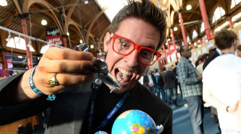 Mario Paladini, of G1Obals, (from Expat to local) at the Web Summit. Photographer: Dara Mac D?naill / THE IRISH TIMES