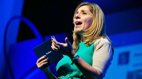 Nicola Mendelsohn, vice president for EMEA at Facebook., addresses delegates during the Dublin Web Summit this morning. Photograph: Aidan Crawley/Bloomberg