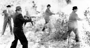Guns for hire: Thompson sub-machine guns and other weapons being fired in the US in the 1930s. Photograph: Vintage Images/Getty
