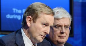 Taoiseach Enda Kenny and Tanaiste Eamon Gilmore have made significantly different noises about potential spying by US authorities in Ireland and Europe. Photograph: Alan Betson/The Irish Times.