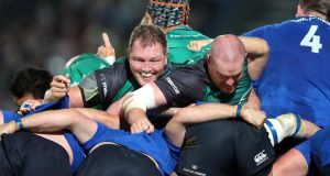 Connacht put enormous pressure on the Leinster scrum. Photograph: Dan Sheridan/Inpho