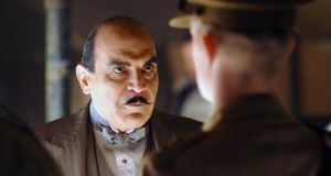 True to character: David Suchet as Hercule Poirot. Photograph: Kieron McCarron/ITV