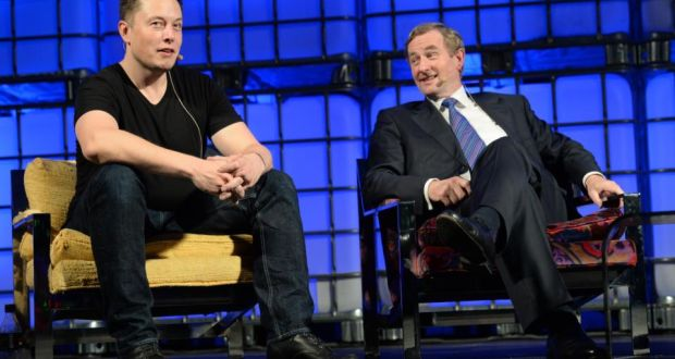 elon musk joined taoiseach enda kenny for the closing event of this year s web summit