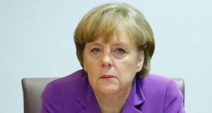 "German chancellor Angela Merkel: ""The current-account surpluses are a sign of the competitiveness of the German economy and global demand for quality products from Germany."" Photograph: AP Photo/Yves Herman"