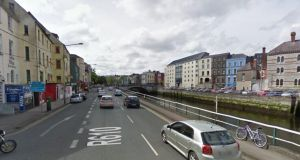 The pedestrian was struck by a white van on George's Quay, Cork at about 9.30pm. Image: Google Street View