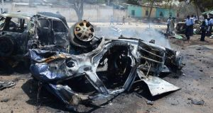 Life in Mogadishu: the aftermath of a car bomb in September. Photograph: Mohamed Abdiwahab/AFP/Getty