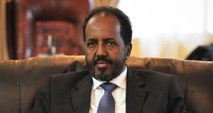 Life in Mogadishu: President Hassan Sheikh Mohamud. Photograph: Tobin Jones/AFP/Getty
