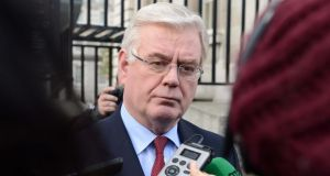 Tánaiste Eamon Gilmore today said he was happy to continue in the Department of Foreign Affairs Photograph: Eric Luke / The Irish Times