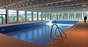The empty swimming pool in the leisure centre at the Kilternan Hotel and Golf Resort project.  Photograph: Eric Luke