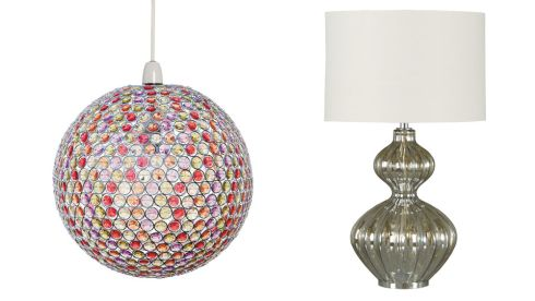Multi-coloured ball pendant, €295, National Lighting, Dublin 12. 