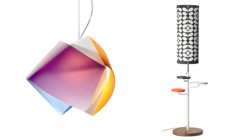 Slamp Gemmy light, €147.60, Wille Duggan Lighting, Killkenny.  Orla Kiely Floor Lamp, €549, Arnotts.
