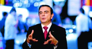 Carlos Ghosn, chief executive officer of Nissan:  has set aggressive expansion targets for Japan's second-biggest car-maker to boost  global market share and its operating margin. Photograph: Armando Arorizo/Bloomberg