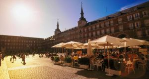 Madrid's Plaza Mayor, a favourite with location with tourists, but visitor numbers to the city were down 22 per cent in August compared to the same month last year.