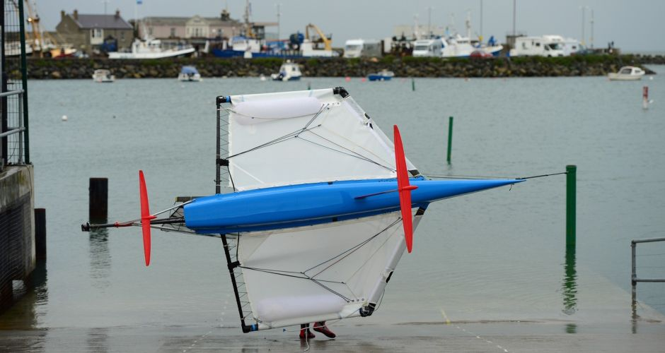 A Moth takes to the water in Howth