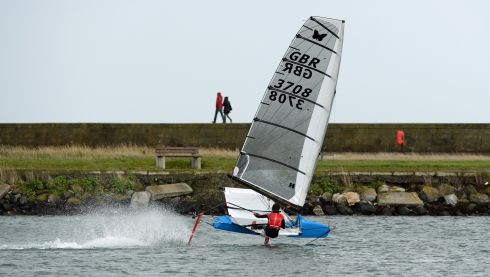 The boat is sailed on a knife-edge with a capsize always a live prospect. Photograph: Frank Miller / The Irish Times