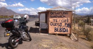 Shanty cafe on Route 5 near Santiago. Photograph: Peter Murtagh