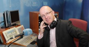 RTÉ Radio 1 Radio presenter John Murray pictured this morning when he returned to present The John Murray Show after a six-month absence. Photograph: Brian McEvoy