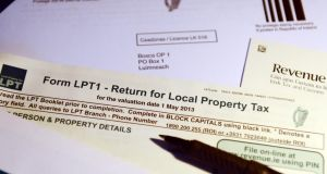 Local Property Tax forms. Photograph: Bryan O'Brien / THE IRISH TIMES