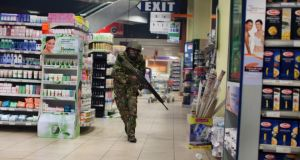 Security forces search for gunmen at Westgate Mall in Nairobi, Kenya last September. Photograph: Tyler Hicks/The New York Times