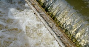 Water flowing in the Liffey water treatment plant at Ballymore Eustace. Photograph: David Sleator/The Irish Times