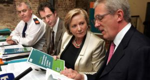 Minister for Children Frances Fitzgerald with Gordon Jeyes. Photograph: Matt Kavanagh