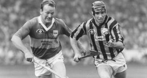 DJ Carey in action against Tipperary's Bobby Ryan during the 1991 All-Ireland final. Photo: James Meehan