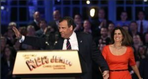 New Jersey's Republican governor Chris Christie was re-elected by a landslide in a traditionally Democratic state. Photograph: Reuters