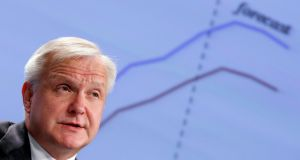 European Union Economic and Monetary Affairs Commissioner Olli Rehn. Photograph: Francois Lenoir/Reuters