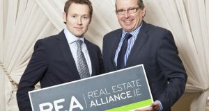 Newly-appointed chairman of REA Barry McDonald with chief executive Philip Farrell