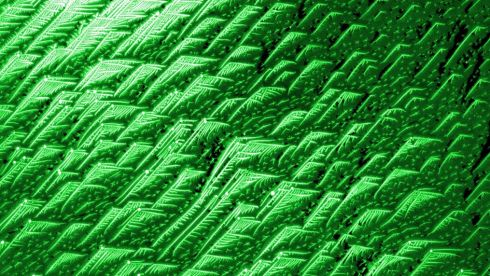 The Mountainous Peaks: The image shows orientated growth of nickel wires on a graphene surface.  Photograph: Hongjun Xu // Trinity College Dublin